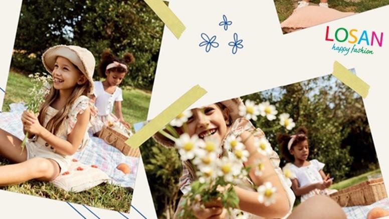 Ropa para niños de Losan en tallas de 4 a 7 años.